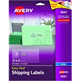 """Avery Clear Easy Peel Shipping Labels for Inkjet Printers 2"""" x 4"""", Pack of 250 (8663)"""