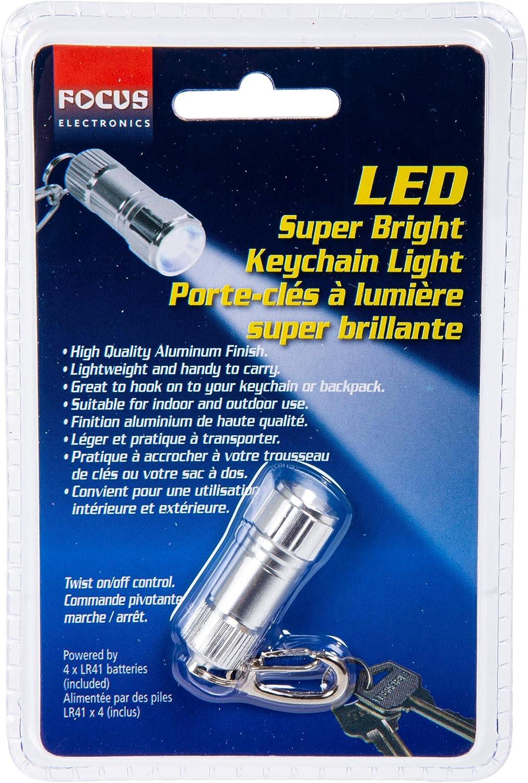 iFocus Electronics Mini Aluminum Keychain Flashlight for Backpacks and Purses