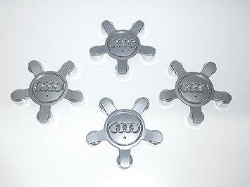Juego de 4 tapacubos de aleación para Audi A3 A4 Q3 Q5, 5 espacios, color gris, parte nr 8R0601165: Amazon.es: Coche y moto