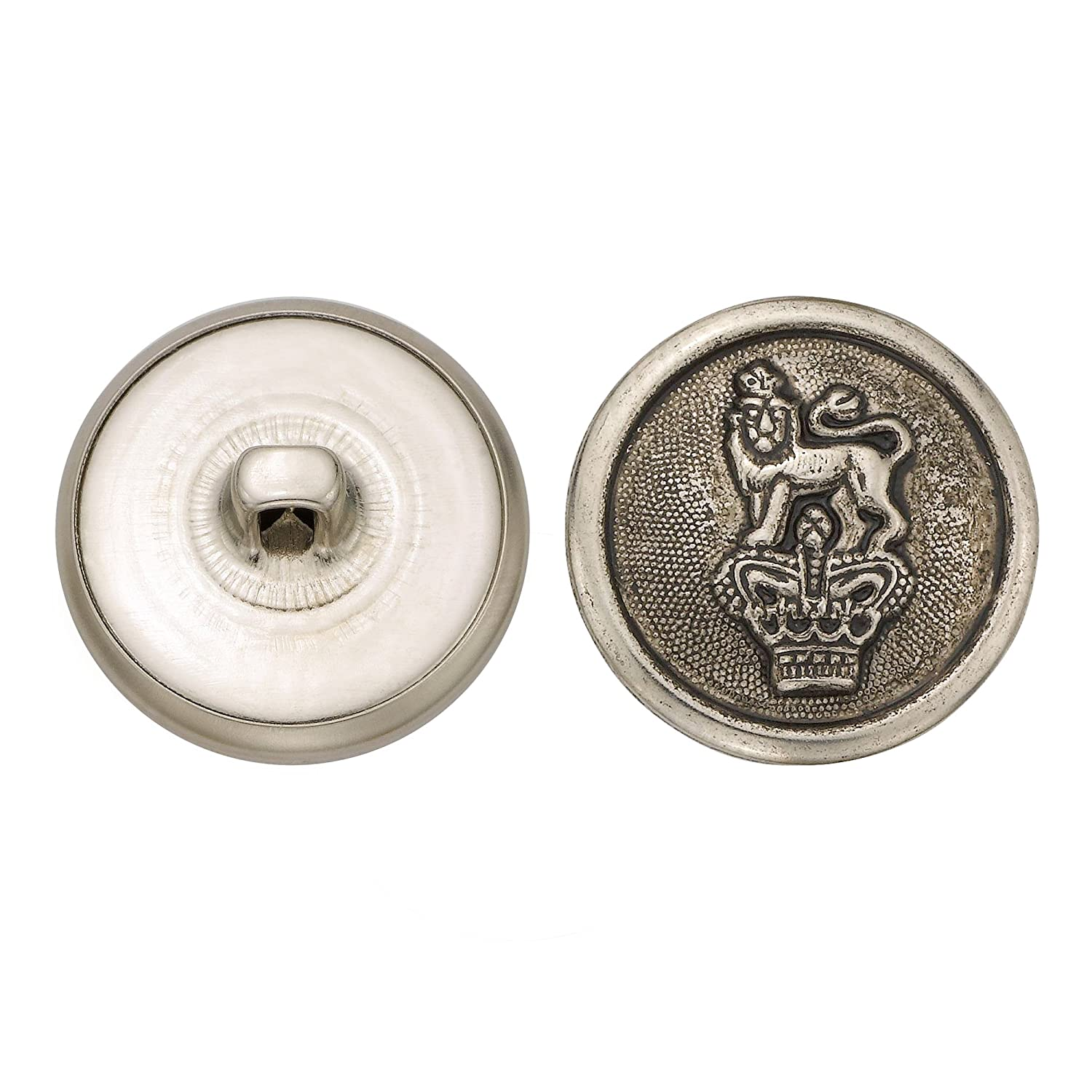 C/&C Metal Products Corp 5001 Flat Metal Button Size 40 Colonial Nickel Finish 36-Piece