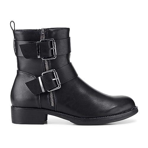 9319980e39fa86 Cox Damen Damen Winter-Boots in robuster Leder-Optik
