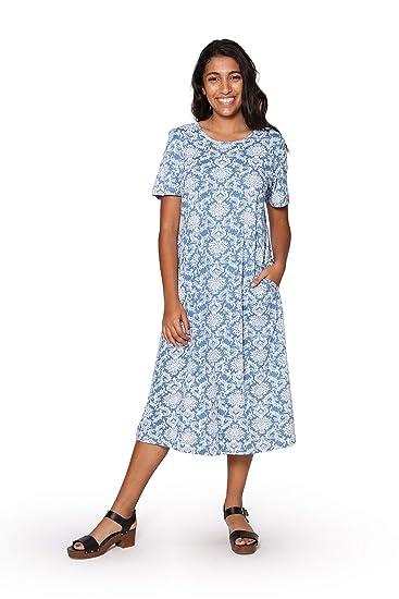 90d0af3223c La Cera Women s Cotton Knit A-Line Dress- Plus Size at Amazon Women s  Clothing store