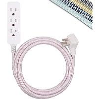 Cordinate Designer - Cable de extensión USB para estación de Carga, Protector de sobretensiones, 3 Tomas de Corriente…