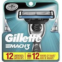 Gillette Mach3 Men's Razor Blade Refills, 12 Count