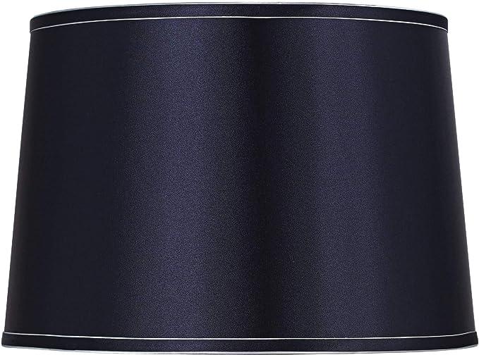 Sydnee Navy With Silver Trim Drum Shade 14x16x11 Spider Brentwood