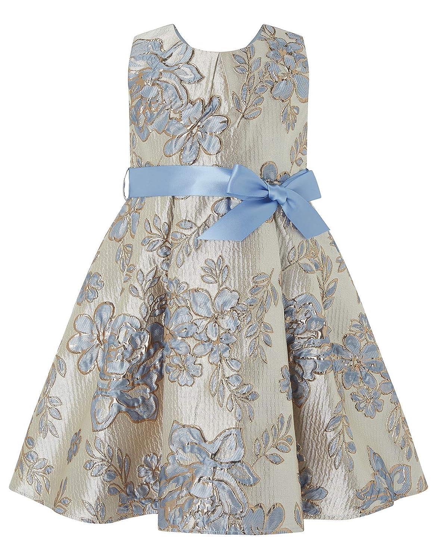Bleu 6-12 mois Monsoon Robe pour bébé Jacquard Donatella VêteHommests de soirée Robes de soirées - Bébé Fille