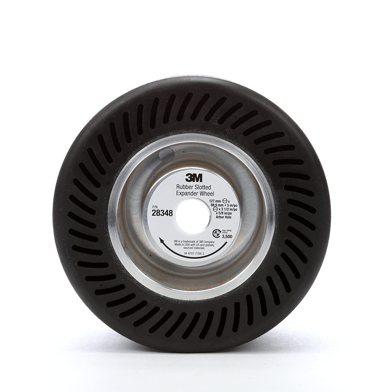 3 m (TM) rueda de expansión ranurada de goma 28718, tambor ranurado, diámetro de 12,7 cm, diámetro del agujero central de 2,5 cm, negro (Pack de 1): ...