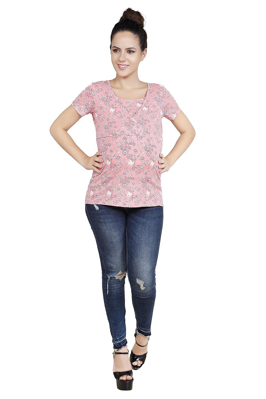 Blush 9 Women's Overlapping Printed Nursing Top