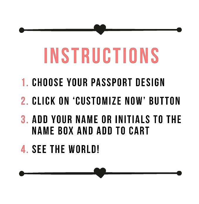 Amazon Customized Rfid Blocking Leather Passport Holder