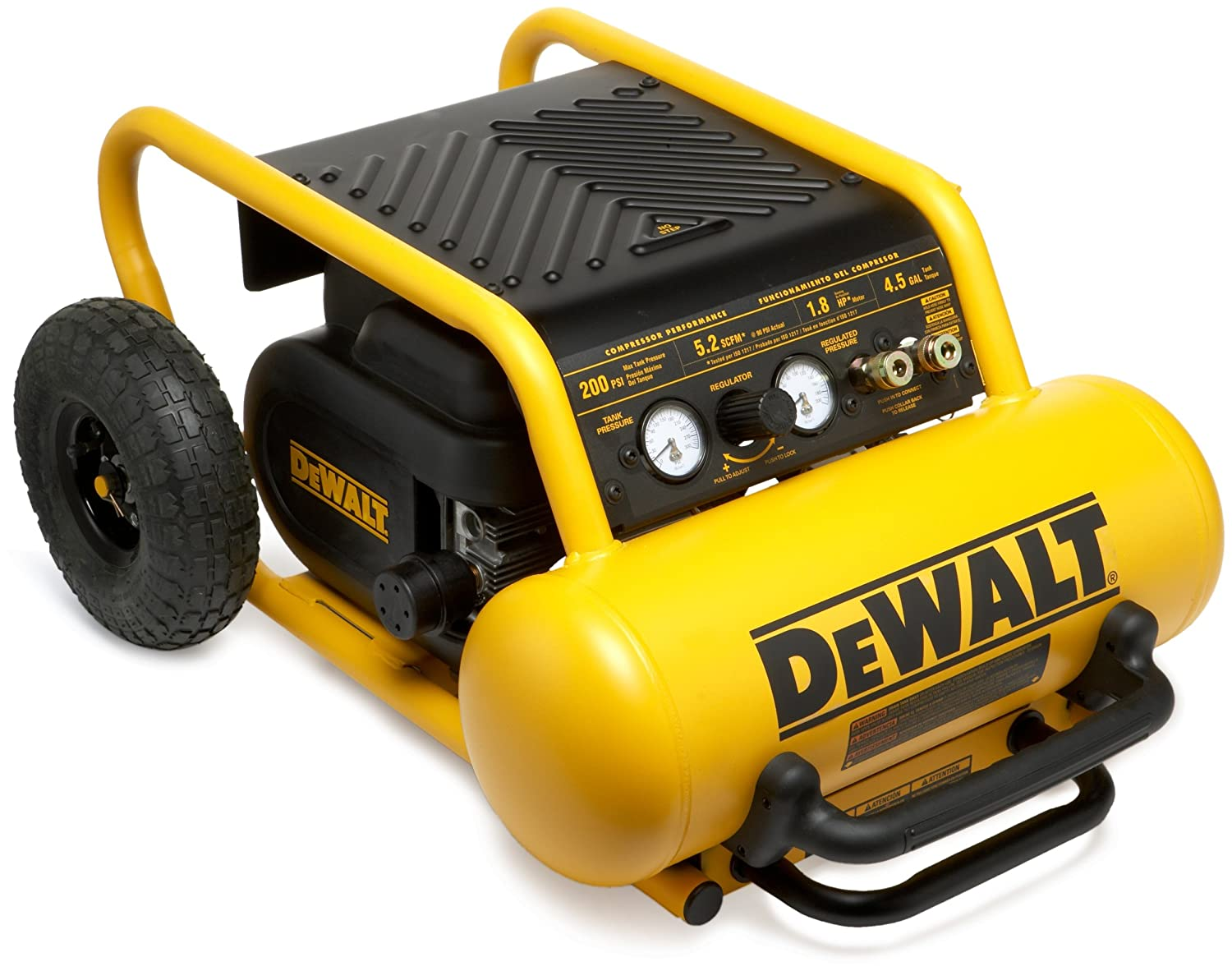 DEWALT D55146R Heavy Duty 4.5 Gallon Compressor with Wheels (Certified Refurbished)