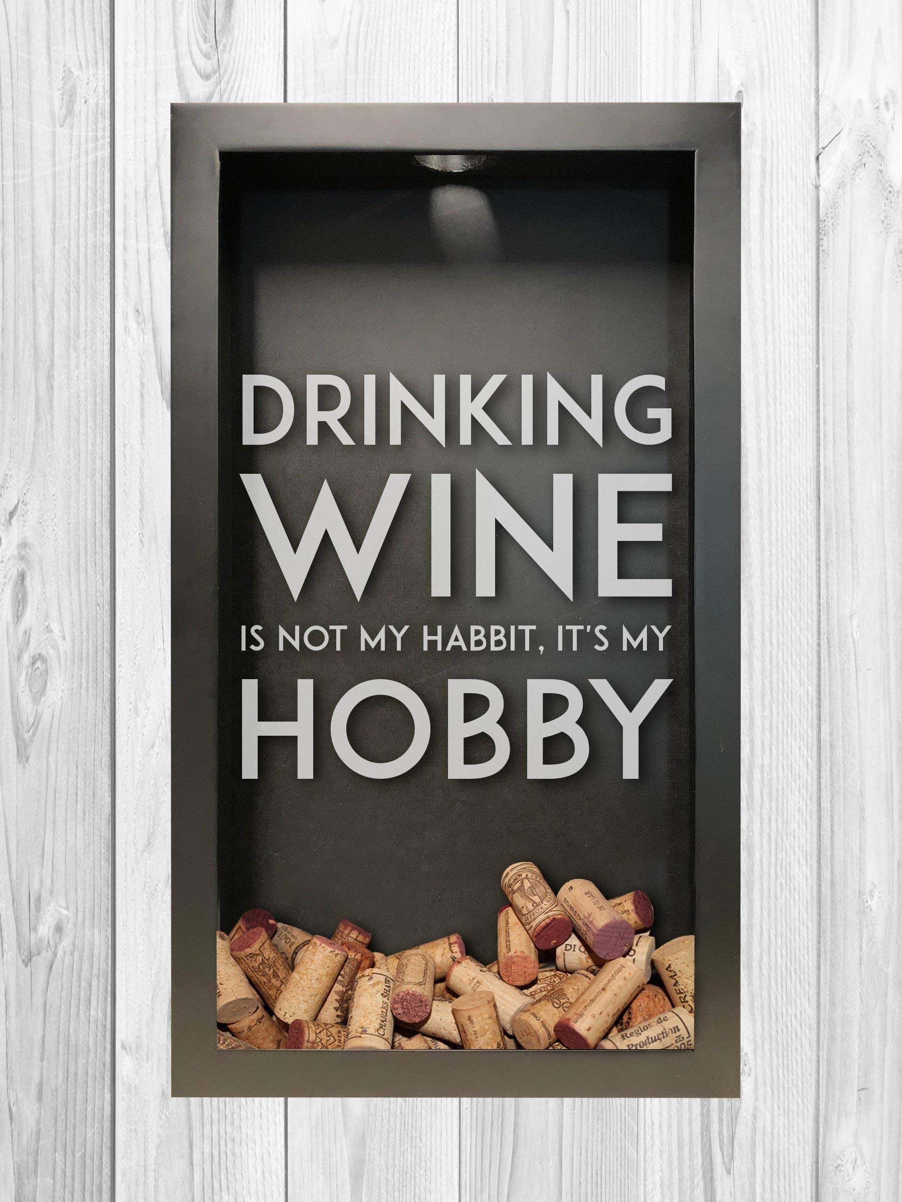 Wine Habit, Hobby Shadow Box | Wine Lover Gift | Wine Cork Shadow Box