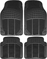OxGord Ridged All-Weather Rubber Floor-Mats - Waterproof Protector for Spills, Dog,