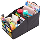 Lusso Gear Car Seat Organizer for Front or Backseat with Black Stitching Great for Adults & Kids Featuring 9 Storage Compartm