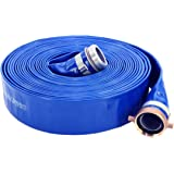"Abbott Rubber 1147-2000-50 PVC Discharge Hose Assembly, Blue, 2"" Male X Female NPSM, 65 psi Max Pressure, 50' Length, 2…"
