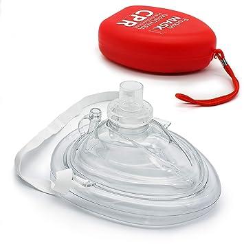 AIESI Pocket Mask máscara de emergencia Profesional para reanimación respiración boca a boca ✔ Mascarilla RCP Resuscitator