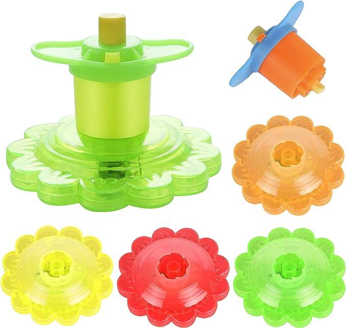 Luminous Gyro Flash Gyroscope Glowing Burst Led Spinning Top Toys Ly