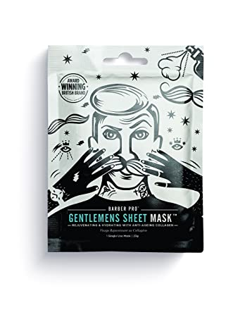 BARBER PRO GENTLEMENS SHEET MASK rejuventating & hydrating with anti-ageing collagen