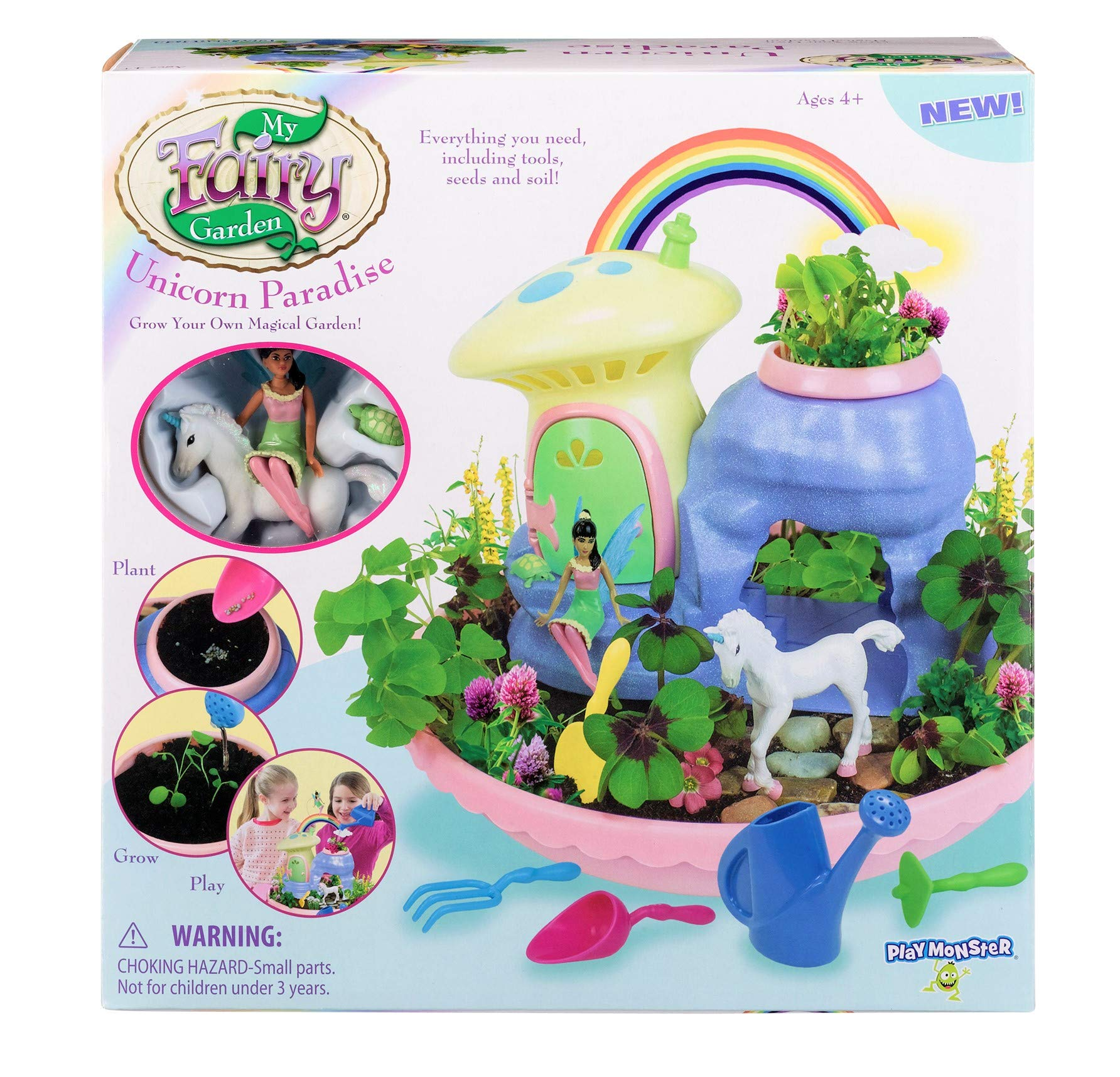 My Fairy Garden Unicorn Paradise-Grow Your Own Magical Garden Toys, Rainbow