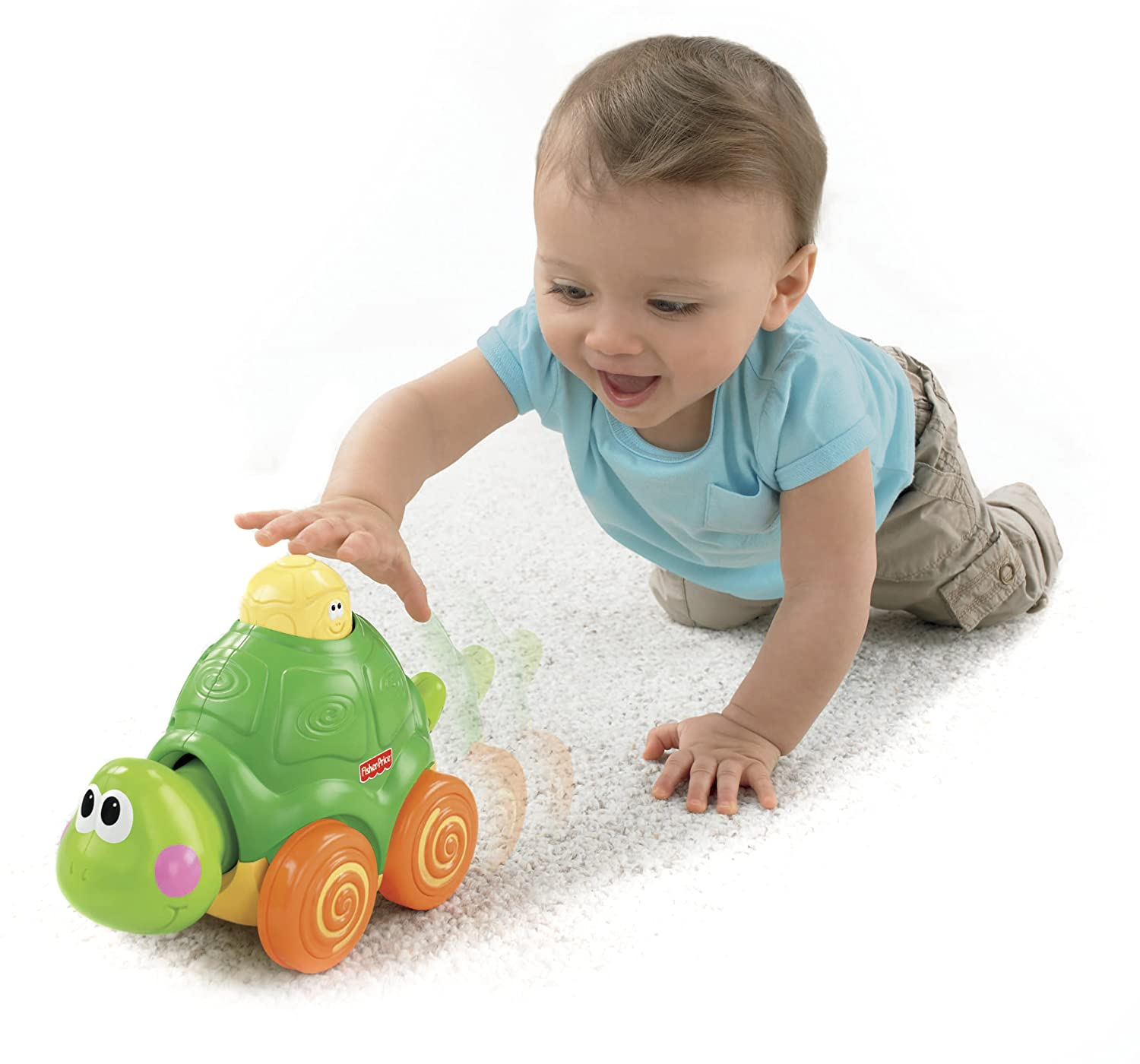 Amazon Fisher Price Go Baby Go Press And Crawl Turtle Toys