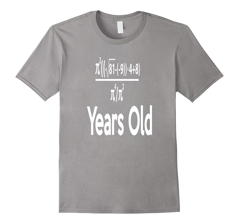 1c9b75ab 80 Years Old Algebra Equation Funny 80th Birthday Math Shirt-BN ...