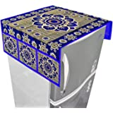 Kuber Industries Cotton Refrigerator Cover Set - Blue