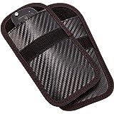 Faraday Key Fob Protector - 2 Pack Mini Anti-Theft Pouch Key Fob RFID Signal Blocking Faraday Bag for Key Fob