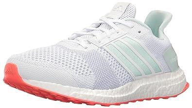 adidas Performance Women's Ultra Boost ST W Running Shoe, White/Ice Mint/ Shock