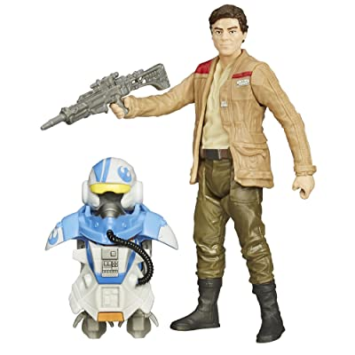 Star Wars The Force Awakens 3.75-Inch Figure Space Mission Armor Poe Dameron (Pilot): Toys & Games