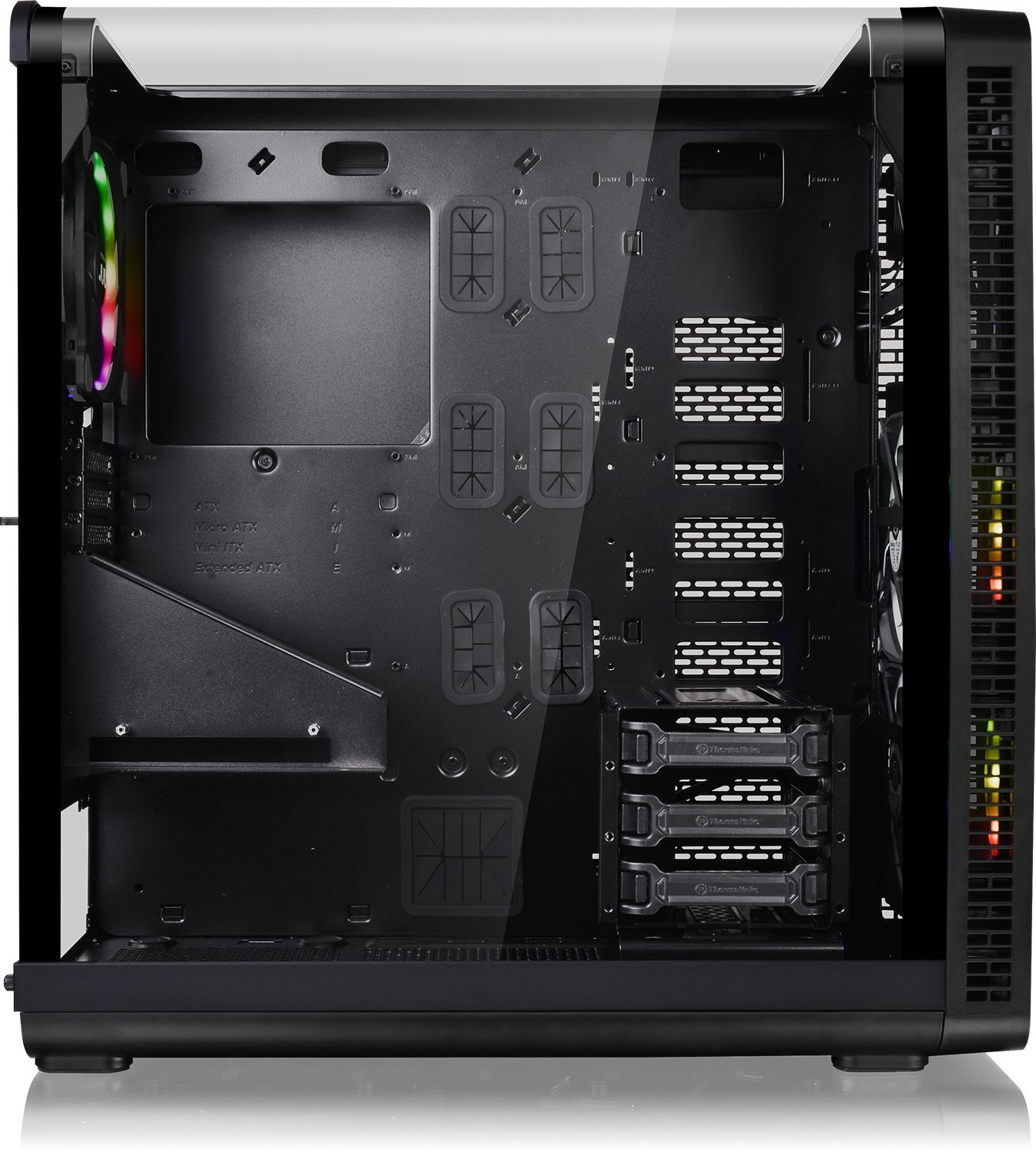 Thermaltake View 37 RGB Mid Tower Case for Gaming PC Black Amazon puters & Accessories
