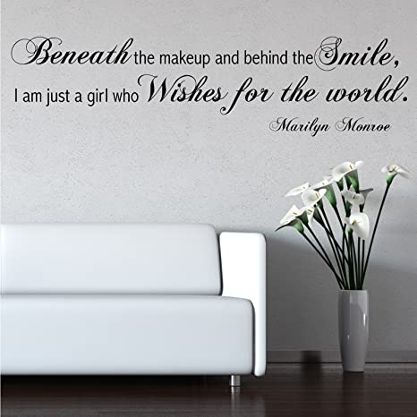 Amazon.com: Marilyn Monroe Wish Wall Quotes Wall Art ...
