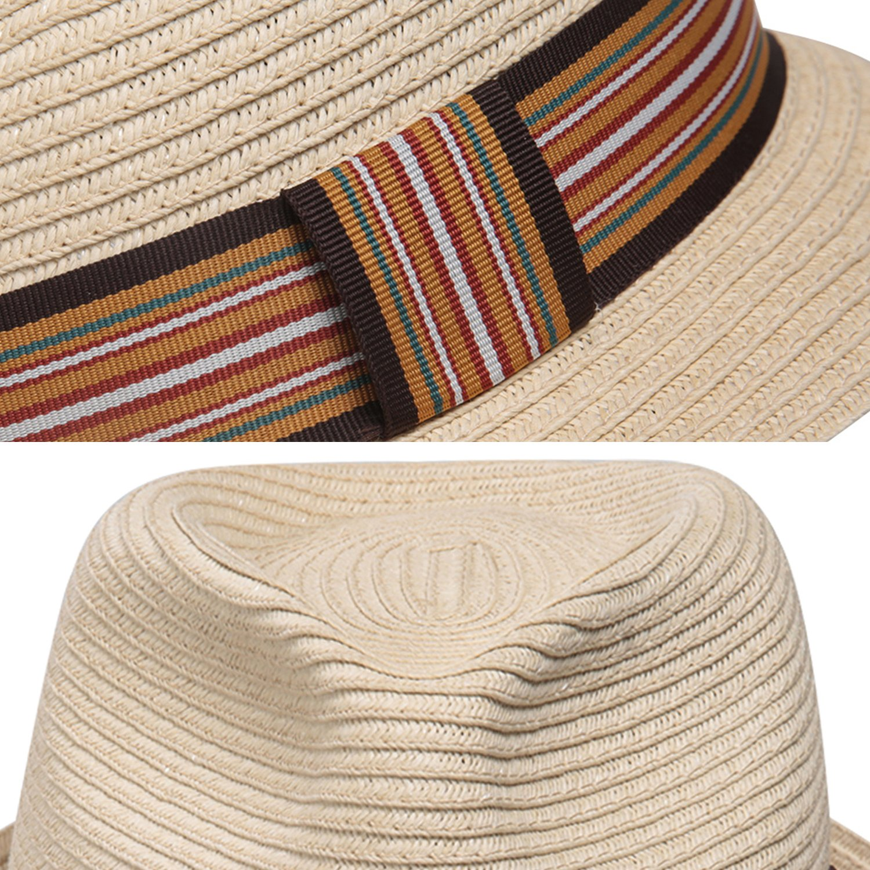 Sedancasesa ala Corta Sombrero de Paja para el Sol Unisex Jazz Playa para Verano