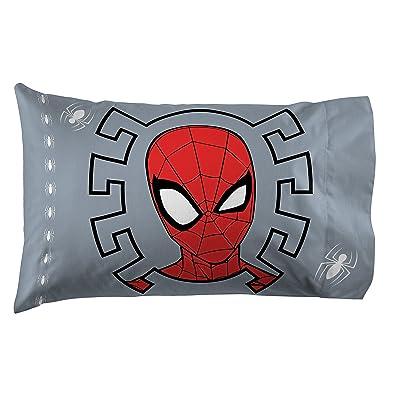 Jay Franco Marvel Spiderman Webbed Wonder 1 Pack Pillowcase - Double-Sided Kids Super Soft Bedding (Official Marvel Product): Home & Kitchen [5Bkhe2005300]