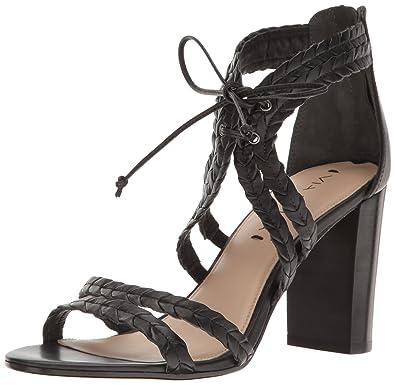 0ab34e9ec9 Amazon.com   Via Spiga Women's Gardenia Block Heel Sandal, Black ...
