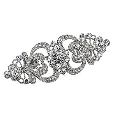 MultiWare Brooch Pin BR296 Vintage Style Bridal Wedding Bouquet Shiny Flower LmMgv