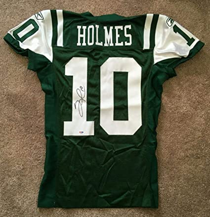 Santonio Holmes signed Game Issued Jets #10 Jersey Autograph rare ...