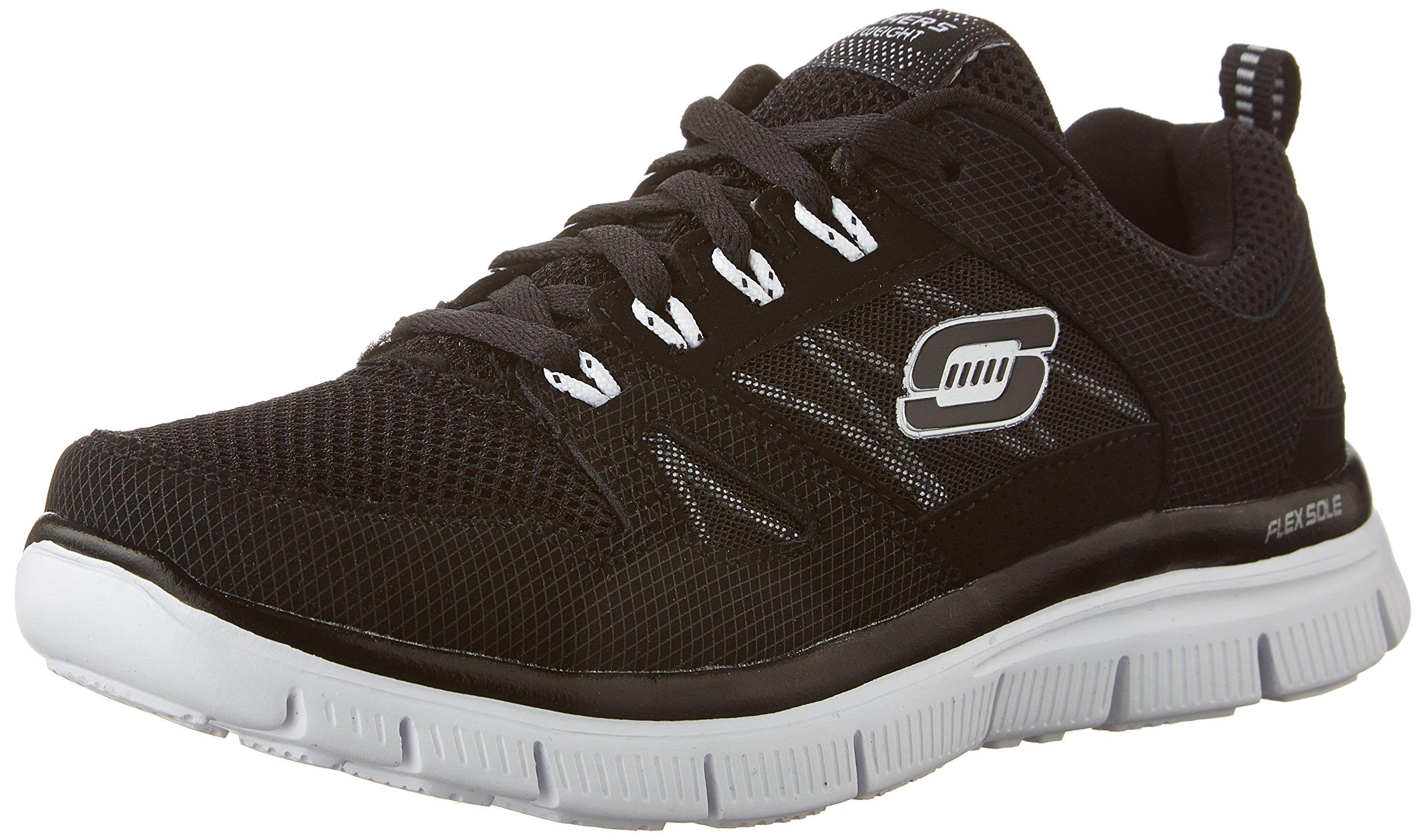 Skechers Kids Flex Advantage Black/White Training Shoe 13 Kids US