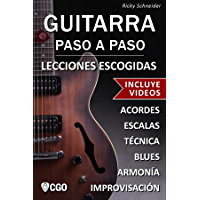 Guitarra Paso a Paso, Lecciones Escogidas - con Videos HD: Acordes, escalas, técnica, armonía e improvisación. (Spanish… book cover