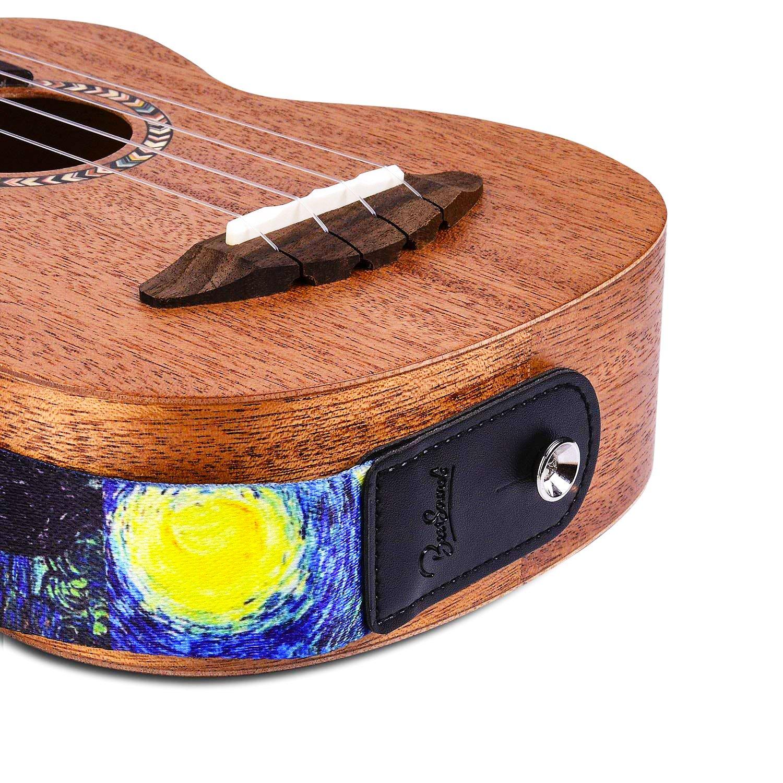 Van GoghStarry Night Ukulele Strap for Soprano Concert Tenor /& Baritone Ukulele Uke-Starry Night