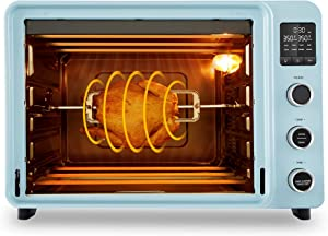 Hauswirt 42 Qt Toaster Oven, 8-in-1 Countertop Oven with Convection Function, Large Capacity, LED Display, 8 Preset Cooking Functions to Roast Turkey, Bake Pizza, Defrost, Dehydrate, Proof Dough - Blue