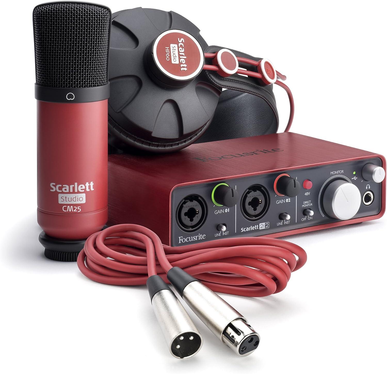 Focusrite - Scarlett studio scarlett studio es un completo pack que contiene todo lo necesario para que realices en tu casa grabaciones de calidad.: Amazon.es: Instrumentos musicales