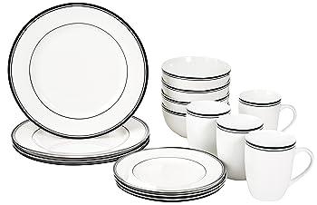 AmazonBasics 16-Piece Dinnerware Set