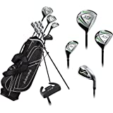 Aspire X1 Men's Complete Golf Set Includes Titanium Driver, S.S. Fairway, S.S. Hybrid, S.S. 6-PW Irons, Putter, Stand…