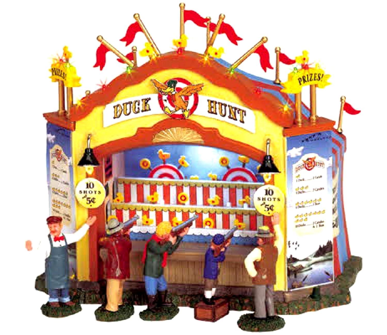 Amazon.com: Lemax 64487 Duck Hunt Carnival Booth Amusement Park ...