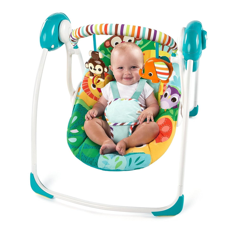 983450f1d Amazon.com : Bright Starts Safari Surprise Portable Swing : Baby