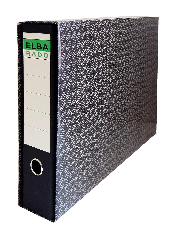 Elba Rado - Cajetín para archivadores y carpetas, A4, L85mm, Verde, A3, color negro: Amazon.es: Oficina y papelería