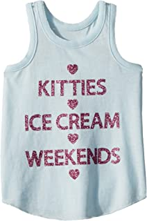 8d6376b6dc84f6 Chaser Kids Womens Extra Soft Kitties   Weekends Tank Top (Toddler Little  Kids)