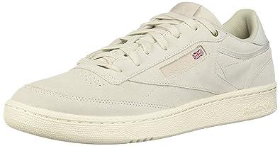 9bf525bcef8a5 Reebok Men's Club C 85 MCC Sneaker, Pebble/Chalk, 11.5 M US: Buy ...