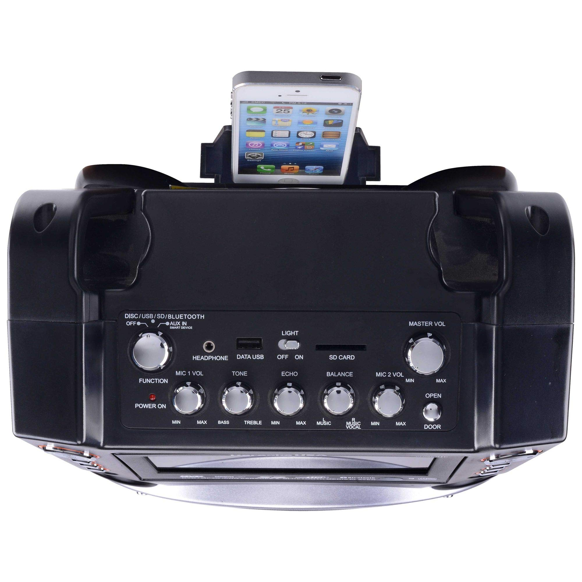 Karaoke USA GF846 DVD/CDG/MP3G Karaoke Machine with 7'' TFT Color Screen, Record, Bluetooth and LED Sync Lights by Karaoke USA (Image #12)