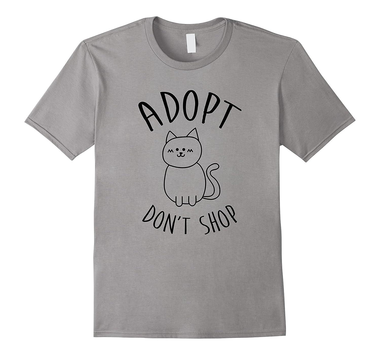 Adopt Don't Shop T Shirt Cat Lover Gift Shirt-TH