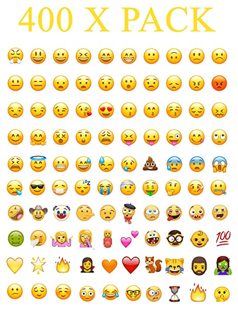 400 Set Whatsapp iPhone Laptop Emoji Emoticon Smiley Face Stickers Genuine